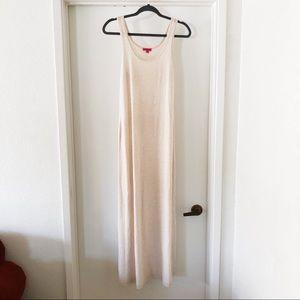 zenana | basic cream tank top maxi dress, size L